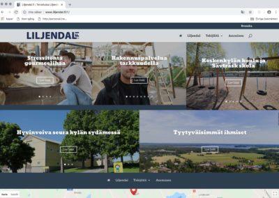 Liljendal.fi/Loviisa kaupunki, ideointi, graafinen konsepti, liikemerkki, verkkosivusto, valokuvausta, tekstityötä, ulkomainontaa