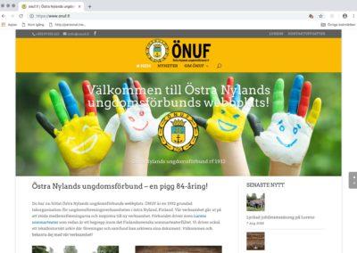 Östra Nylands ungdomsförbund, webbplats, visuellt koncept, foto, film, annonsarbete, nätlösningar, sociala medier osv.
