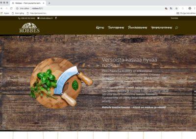 Robben Pikku Puutarha, visuaalinen konsepti, verkkosivusto, valokuvausta, videokuvausta, tekstityötä, some ym