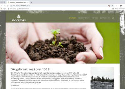 Stockfors, grafiskt koncept, logotyp, webbplats, textarbete, annonsarbete