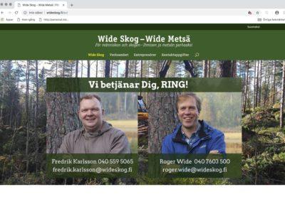 Wide Skog, visuellt koncept, webbplats, fotografering