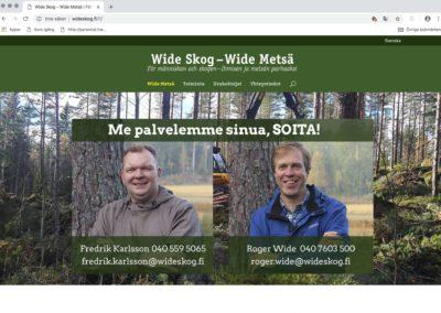 Wide-Metsä, visuaalinen konsepti, verkkosivusto, valokuvausta