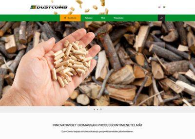 Dustcomb Oy, konseptionti, logo, visuaalinen ilme, verkkosivusto